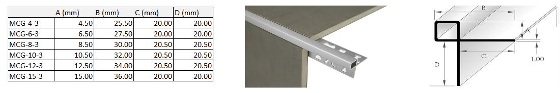 Mosaic Corner Guard Trim 6.5mm x 3m (Gloss White) 1