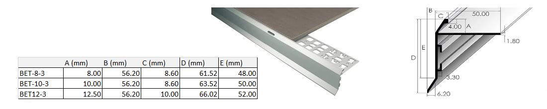 Balcony Trim 10mm x 3m (Matt Silver) 2