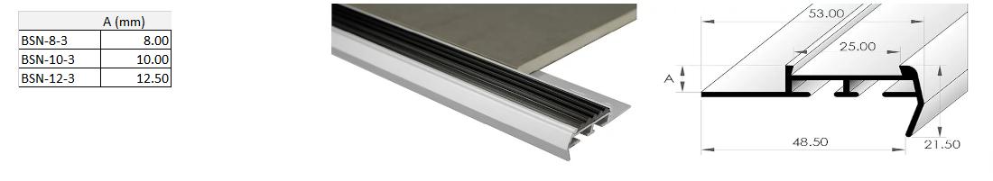 Stairnosing Trim 8mm x 3m (Gloss White) 1