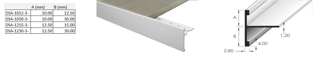 Double Sided Angle 12.5mm x 15mm x 3m (Matt Silver) 2