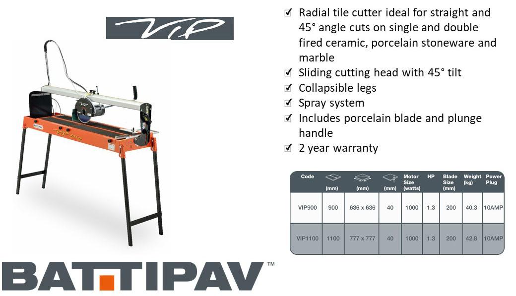 Battipav VIP 900mm Tile Cutter 2