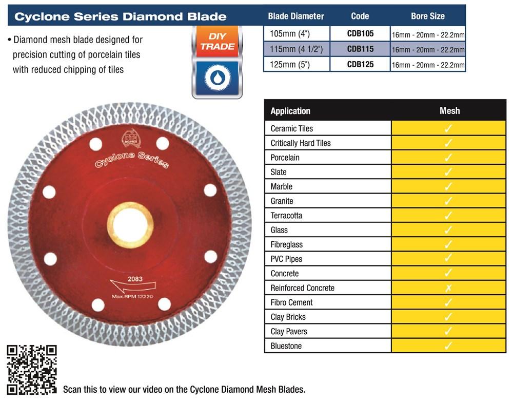 Cyclone Diamond Mesh Blade 125mm 2