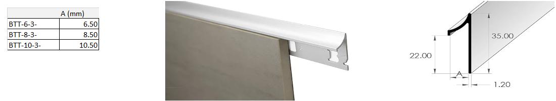 Top Trim 10.5mm x 3m (Gloss White) 1
