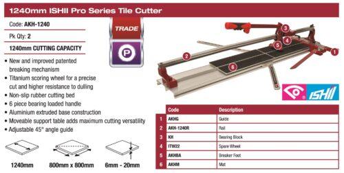 Ishii Pro Tile Cutter 1240mm 1