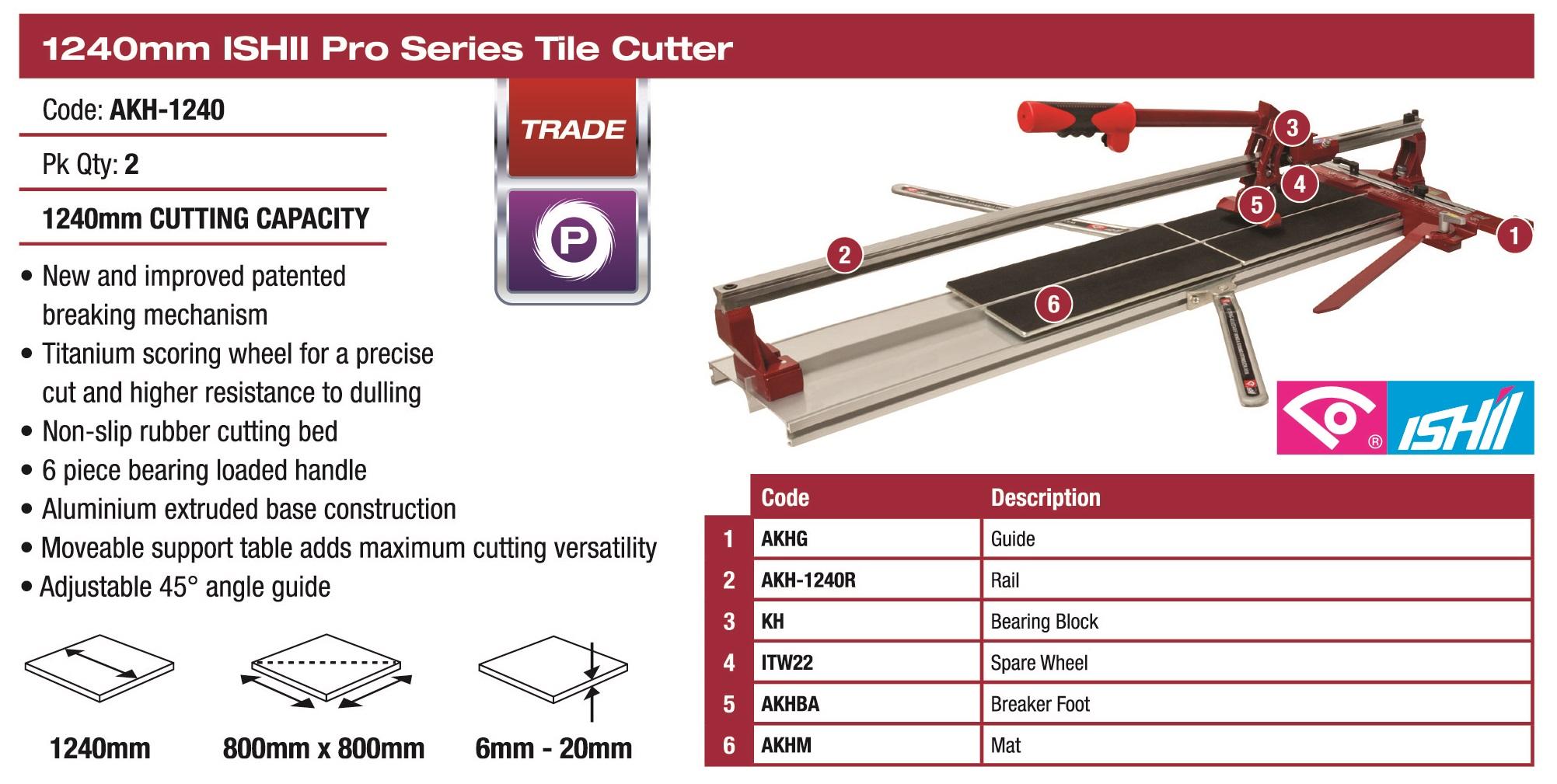 Ishii Pro Tile Cutter 1240mm 2