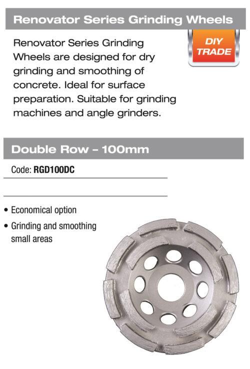 DTA Grinding Wheel Double Row Grey 2