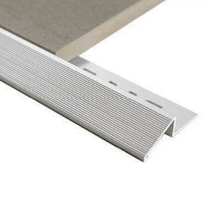 Aluminium Diminishing trim 8mm x 3m (Matt Silver)