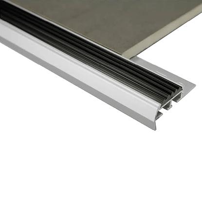 Stairnosing Trim 10mm x 3m (Bright Silver)