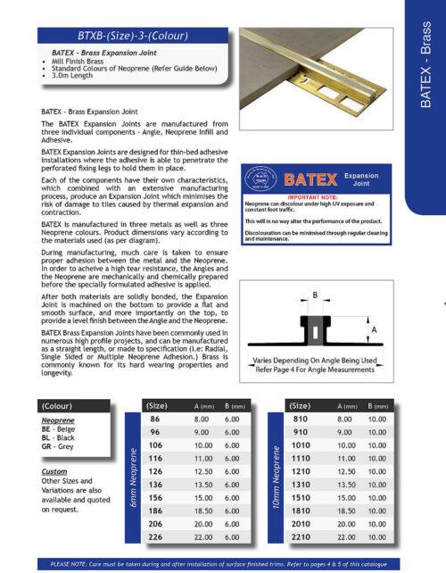 Batex Brass 10mm x 3m – 6mm Neoprene (Black)