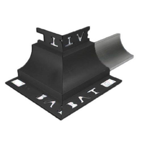 Cove Trim External Corner 12mm x 10mm (Black)