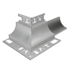 Cove Trim External Corner 10mm x 10mm (Bright Silver)