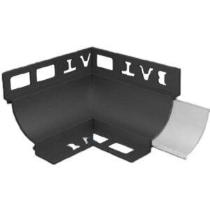 Cove Trim Internal Corner 10mm x 8mm (Black)