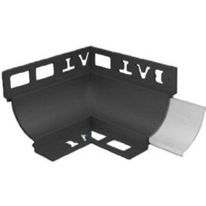 Cove Trim Internal Corner 12mm x 8mm (Black)