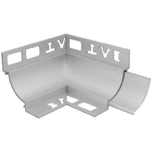 Cove Trim Internal Corner 10mm x 10mm (Matt Silver)