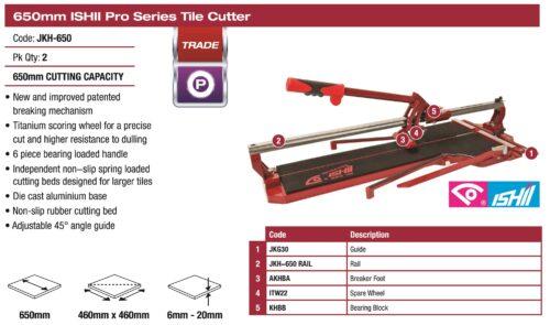 Ishii Pro Tile Cutter 650mm 1