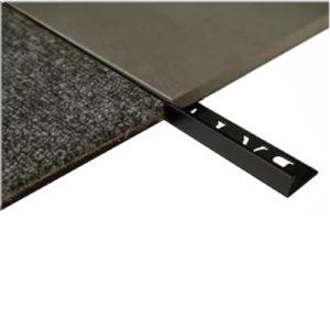 L Angle Aluminum Trim 10mm x 3m (Gloss Black)