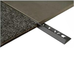 L Angle Aluminum Trim 12.5mm x 3m (Matt Black)