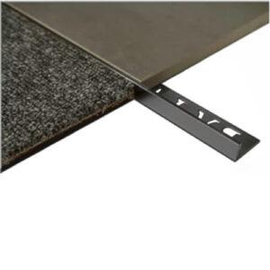 L Angle Aluminum Trim 9mm x 3m (Matt Black)