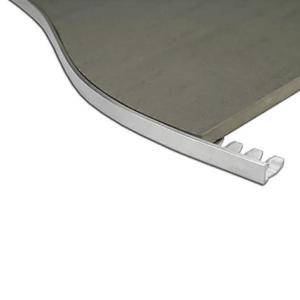 L Angle Aluminum Trim 8mm x 3m (Notched)
