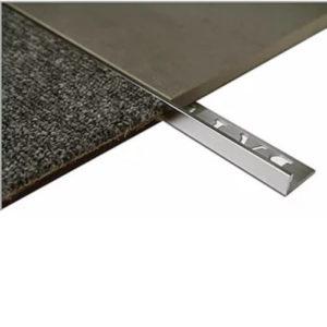 L Angle Aluminum Tile trim 8mm x 3m (Bright Shiny)