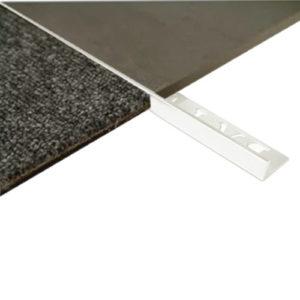 L Angle Aluminum Trim 8mm x 3m (Gloss White)