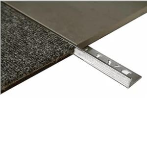 L Angle Aluminum Tile trim 10mm x 3m (Linished)