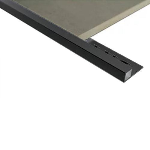 Mosaic Corner Angle Tile Trim 10.5mm x 3m (Gloss Black)