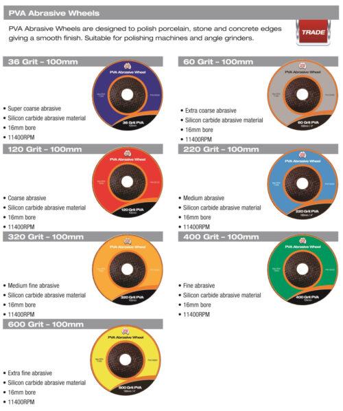 DTA PVA Abrasive Wheel 36 Grit 10 Pack