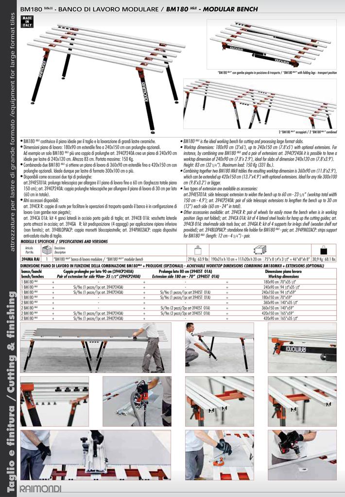 Raimondi BM 180 Modular Work Bench 2
