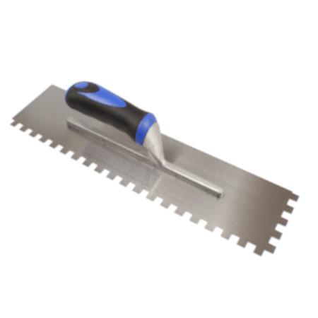 Bright Steel Long Blade Adhesive Trowel 12mm