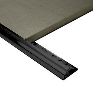 Half Round Aluminium edge 12mm x 3m Black
