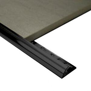 Half Round Aluminium edge 10mm x 3m Black