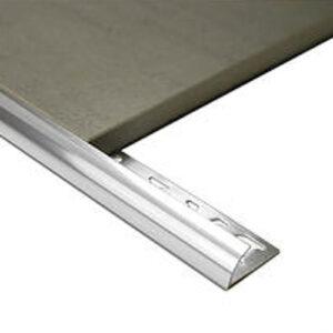 Half Round Aluminium edge 10mm x 3m Bright Silver