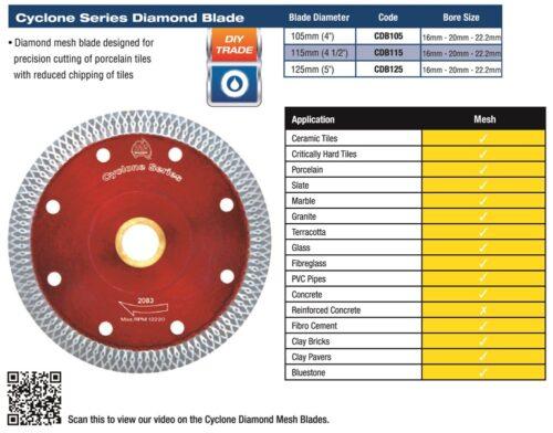 Cyclone Diamond Mesh Blade 105mm 1