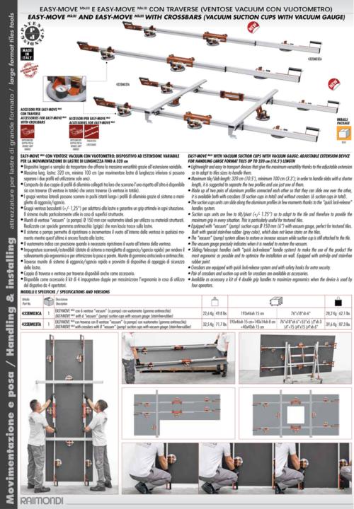 Raimondi Easy Move Vacuum Suction Cup Set