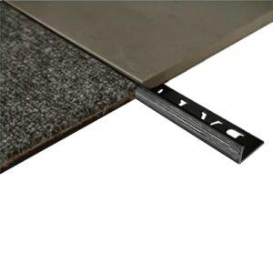 L Angle Aluminum Tile trim 10mm x 3m (Linished Black)