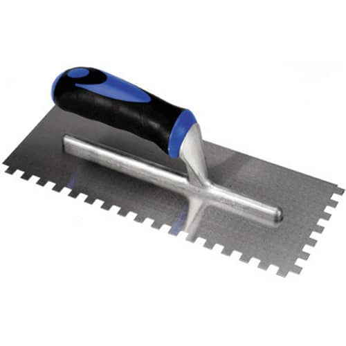 Bright Steel Notched Adhesive Trowel 10mm