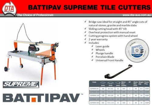 Battipav Supreme 1200mm Wet Saw