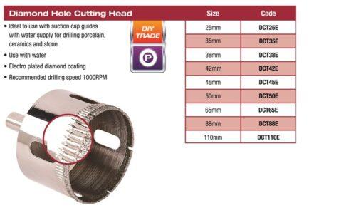 DTA Diamond Hole Cutting Head 50mm 1