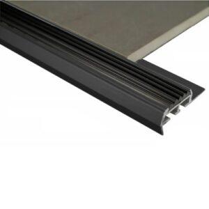 Stairnosing Trim 12mm x 3m (Gloss Black)