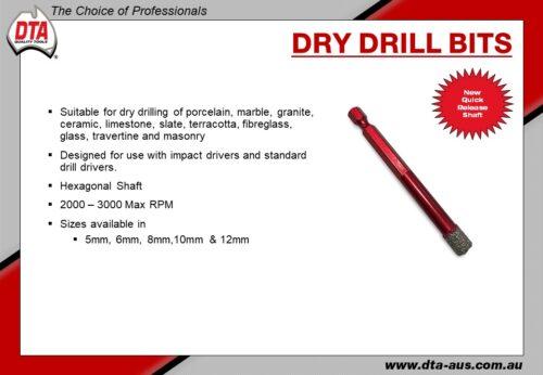 Dry Drill Bits 12mm