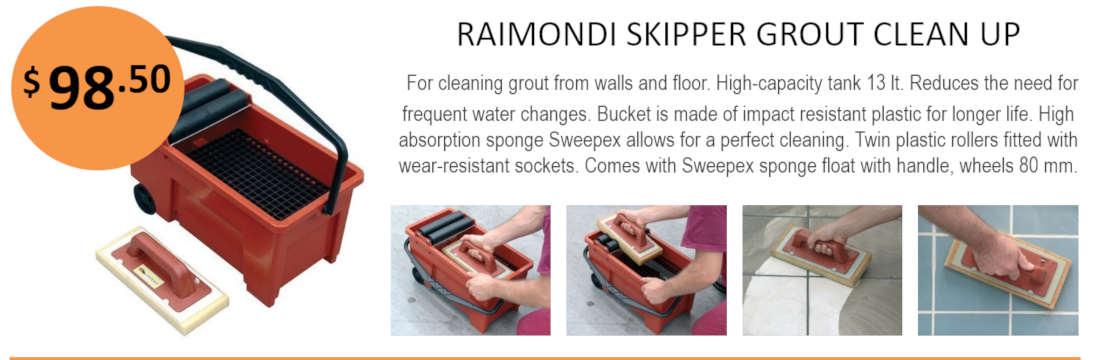 Raimondi Skipper Grout Clean Up System